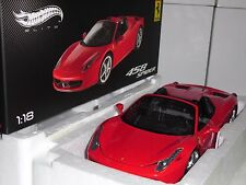 FERRARI 458 SPIDER  HOTWHEELS ELITE 1:18 RAREZA NEW