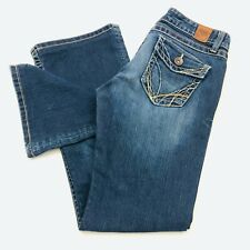 Buckle BKE Madison Women's Size 30 Back flap pockets dark wash blue denim jeans