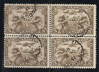 CANADA NO  C1 AIR MAIL STAMP BLOCK,   F CDS USED