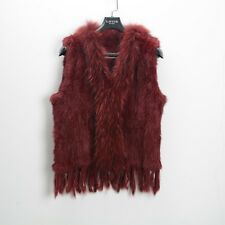 High Quality Real Natural Fur Knitted Gilet Women's Waistcoat Winter E31000
