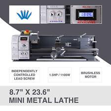 87 236 Motor Upgraded Metal Lathe Bench 1100w 15hp 5 Tools Brushless Mini