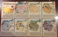 World War II Maps, 1939, detailed breakdown of Deutschland (Germany) at the time