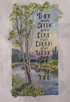 Handmade LUXURY COMPLETED FINISHED CROSS STITCH - Natural scenery - L117