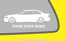 2x LOW YOUR TEXT BMW e36 m3 325i 328 318is coupe sticker decal with Parallel 245