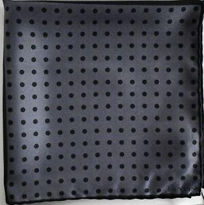$95 New LANVIN Paris 100% SILK Pocket Square Handkerchief