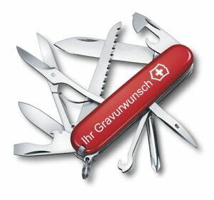 Victorinox Schweizer Taschenmesser Fieldmaster rot mit Gravur Geschenk