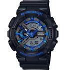 Casio GA110CB-1A Men's Ana-Digi Blue Accented Alarm Chrono Black G Shock Watch