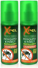 More details for 2x xpel mosquito insect fly bite repellent tropical formula pump spray 70ml uk