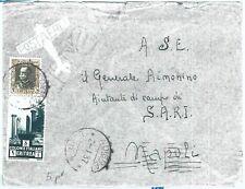 71990 - AOI ERITREA  - Storia Postale -  BUSTA  da ADIGRAT a NAPOLI  1937