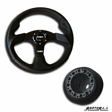 "Land Rover Defender Sport Steering Wheel 14"" Faux Leather With 48 Spline Boss"