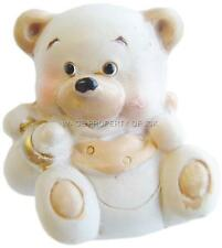 TEDDY BEAR per BATTESIMO NEW BABY SHOWER TORTA 1st Compleanno Topper Decorazione # 2