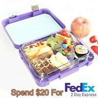 Aohea Kids Bento Box for Lunch or Snack Microwavable Buckle Lock & Sealed-Purple