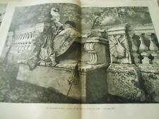 Grande Gravure 1875 - Le rendez vous d'après tableau de Rossi et Filosa Rome