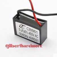 5pcs CBB61 5UF 450V Ceiling Fan Capacitor start capacitor
