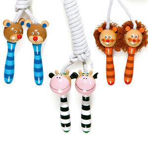 Springseil - Bär, Kuh, Löwe - Holzspielzeug ab 5 Jahre Kinder