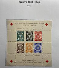 Mint Poland Dachau Camp Red Cross Souvenir Sheet