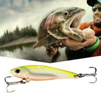 1pcs Fishing Lures Sink Metal Spoon Bait Tackle 6.4CM/14g Super V3E6
