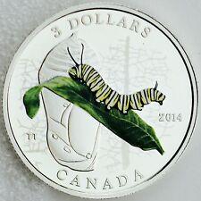 Canada 2014 $3 Caterpillar & Chrysalis, Animal Architects #3, ¼ oz .9999 Silver