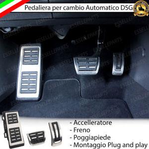 COPRIPEDALI COPRI PEDALI PEDALIERA ALLUMINIO CAMBIO AUTOMATICO DSG VW PASSAT B8