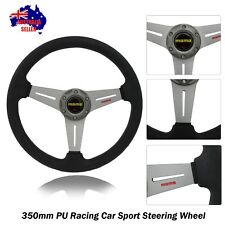 350mm Titanium Steering Wheel with Horn Button