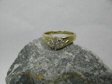 Vintage Ring / Damenring Raute 9 Brillanten 0,51ct 585 / 14 kt Gold Brillantring
