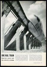 1952 Alweg monorail train 8 photo first test run vintage print article