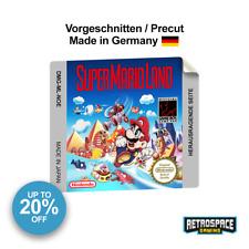 Gameboy Super Mario Land Ersatz Aufkleber Gescnitten Label Glänzend Glossy Repro