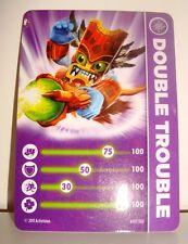 CARTE CARD FIGURINE SKYLANDERS - DOUBLE TROUBLE
