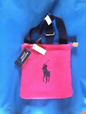 RALPH LAUREN CROSSOVER MESSENGER BAG COTTON HOT PINK  RRP£65 NOW £39