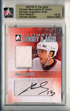 2007-08 ITG Ultimate Silver Game Used PAVEL DATSYUK Auto Jersey Rare SP #/30