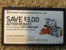(3) $3 Blue Moon Beer Rebate NBPR On Citrus Fruit Oranges Grapefruit AL, AR, NC