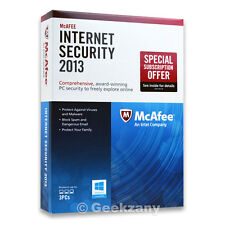McAfee Internet Security  2013 - 3 PCs, 12 month Subscription, PC, Widow 8