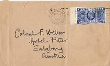 Stamp England 2&1/2d bright blue KGV jubilee 1935 on cover London to Austria