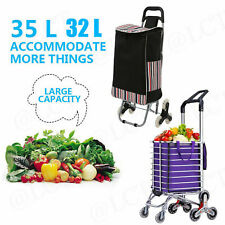 2/6/8Wheel Folding Shopping Cart Grocery Trolley Laundry Stair Climbing Handcart