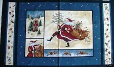 """Jolly Ol' St Nick Quilting Fabric Panel Wall Hanging - 23.25"""" x 44"""""""