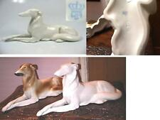 VINTAGE HAND PAINT ART DECO STYLE HUNTING RUSSIAN WOLFHOUND BORZOI DOG FIGURINE