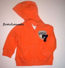 BABY GAP ORANGE HOODIE JACKET JUMPER 6-12 MONTHS NWT