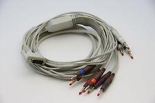 BIONET 10 Lead ECG/EKG Cable AHA Banana  CARDIOCARE CARDIOTOUCH 2000/3000 NEW