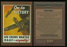 MILITARY PROPAGANDA & POSTER (Cult-Stuff) RARE PROMO CASE TOPPER CARD #37/36