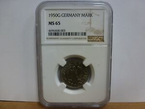 1950 G Germany Mark NGC MS65 1M Coin