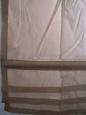 Raffrollo, Gardine, Vorhang, Schlaufen, HxB 140x60 cm, sand, braun, nugat, beige