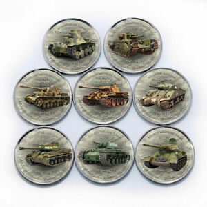 Zimbabwe 1 shilling set of 8 coins History of Tanks coins 2017 World War II