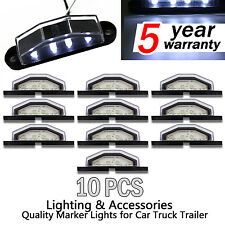10X LED Number Plate Light Truck Boat 10V-30V 4 LEDS Submersible License Light