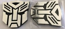2 pack chrome autobot  Transformers Emblem Badge Car Stickers prime Shipping g1