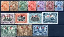 Belgien 1918 Rotes Kreuz Überdruck, MiNr 129/142, siehe Beschreibung