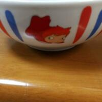Studio Ghibli PONYO on the Cliff limited Bowl Rare noodle udon ramen F/S used