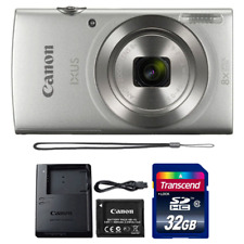 Canon Ixus 185 / Elph 180 20MP Digital Camera Silver with 32GB Memory Card