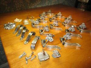 Am Cabinet Hdw'r Co 14 LOT Vintage Cabinet Push Button Latch & 4 MCM handles etc