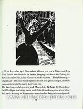 Frans Masereel-temprana madera consecuencias de corte. libro de 1983 en pequeñas tirada!