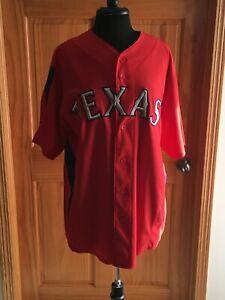 JOSH HAMILTON Texas Rangers #32 stitched/button-down Majestic jersey - L